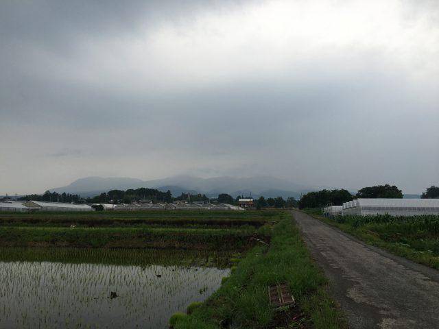 今朝の赤城山 変な天気