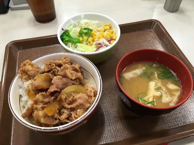 牛丼ミニ・サラダセット