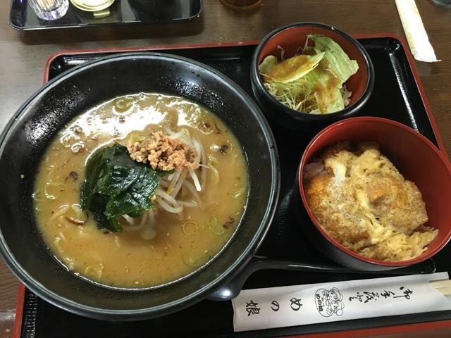 玉子カツ丼+みそラーメンランチ