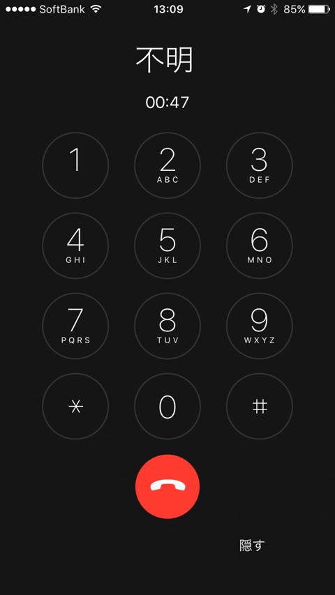 発信者不明の電話