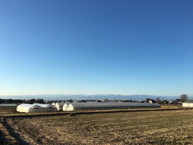 今朝の関東平野